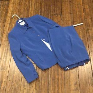 Kasper ASL 3 Piece Blue Pant Suit